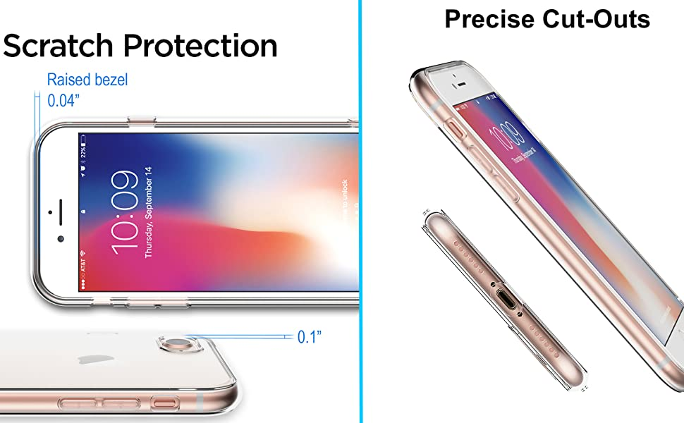 iPhone 8 case se 2020 7 clear cover soft tpu crystal clear apple second generation