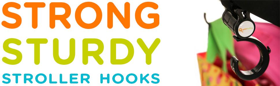 STRONG STURDY STROLLER HOOKS