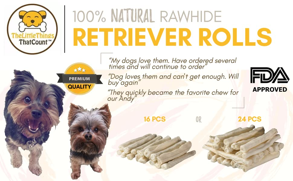 Amazoncom Thelittlethingsthatcount 100 Natural Rawhide Retriever