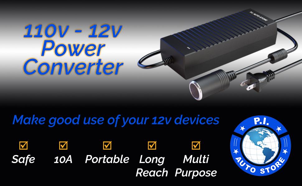 110V 110 V AC DC Power Converter adaptor 12V 12 air compressor tire inflator car cigarette lighter