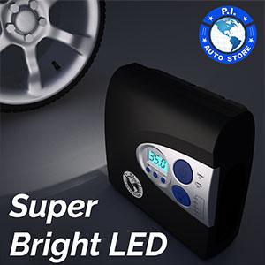 LED light tire inflator compressor pump air portable car pressure gauge digital 12v hawk dragon