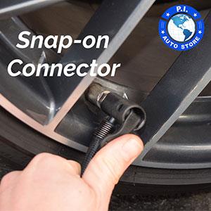 snap connector tire inflator compressor pump air portable car pressure gauge digital 12v hawk dragon