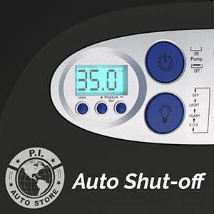 shut off tire inflator compressor pump air portable car pressure gauge digital 12v hawk dragon