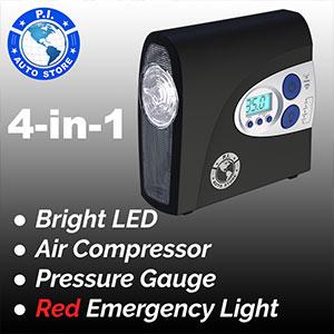 P.I Auto Store tire inflator compressor pump air portable car pressure gauge digital 12v hawk dragon