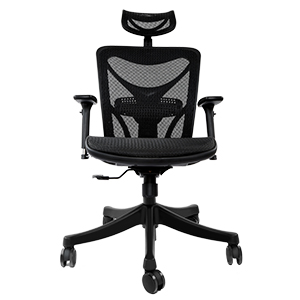This Mesh Seating Option Offers Breathability, With A Headrest For Extra  Head And Neck Support.