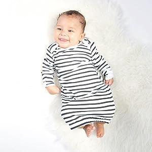 Organic Baby Onesie Infant Sleep Gown Organic Baby Sleeper Infant Pajama Sleep Sack