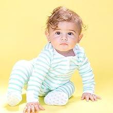 Organic Baby Bodysuit Organic Infant Onesie Footed Pajamas 100% Organic Cotton Zip Up Sleeper