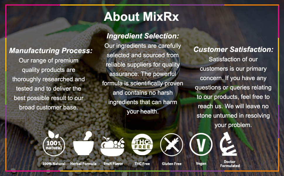 Mix rx hemp gummies give you an optimum dose of vitamins & nutrients.