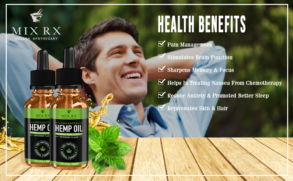 Pure hemp oil works to improve eyes, skin, intestines, bones and joints