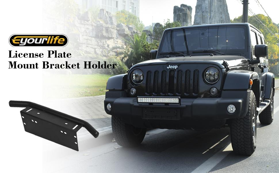 Amazon.com: Holder License Eyourlife Front License Plate Bracket ...