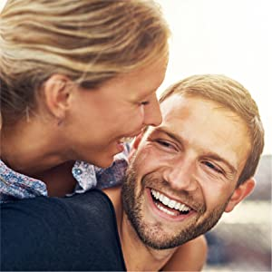 Picture of young couple smiling