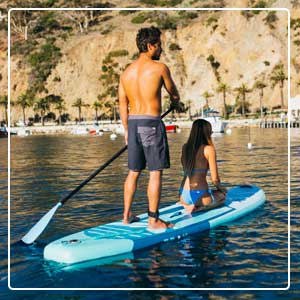 PEAK All Around Inflatable Stand Up Paddle Board SUP