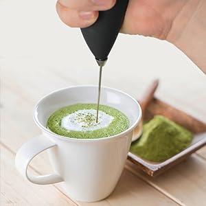 matcha mix tea powder milk frother shaker mini mixer