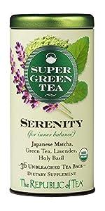 a tin of serenity green tea