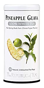 a tin of white tea in pineapple guava flavor