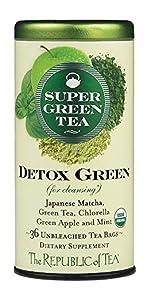 a tin of supergreen detox green tea