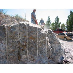 Rock breaking cutting demolition removal excavating jackhammer jack hammer demolition breaker