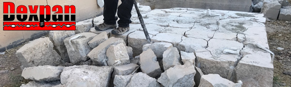 Dexpan Non-Explosive Demolition Agent for Rock Breaking, Concrete Cutting Removal, Excavating