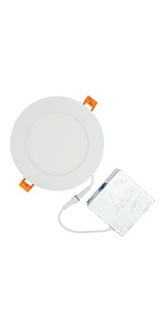 8 inch led round panel 18W 130watt incandescent replacement