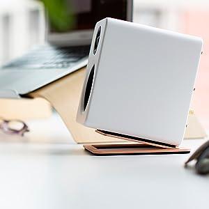 s2, copper, rose, speaker, stand, desktop, foam, isolation, minimal, design, alloys,