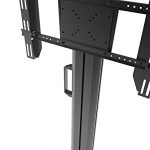 Kanto MK series vertical handle on side of tv mount stand cart