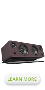 Kanto SYD powered bookshelf speaker Matte Burgundy