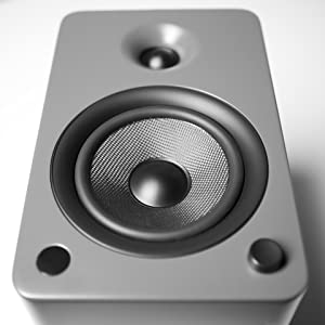 Matte Grey speaker front view from bottom