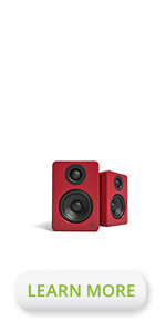 Kanto YU2 Matte red desktop powered speakers