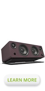 Kanto SYD matte burgundy powered bookshelf speaker