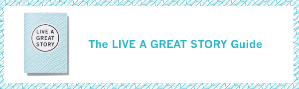 The LIVE A GREAT STORY Guide - Life Planner to be Brave & Manifest Happiness - Positive Thinking & Self Care - Overwhelm and Anxiety Relief - 5 x ...
