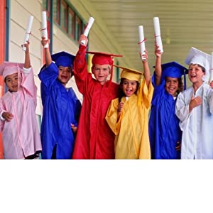 Amazoncom Graduationmall Kindergarten Graduation Gown Cap Set With