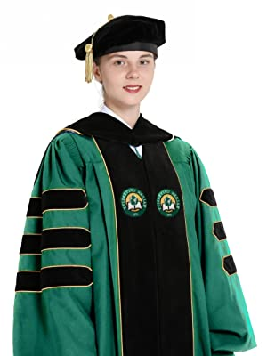 facc5dedfc GraduationMall Deluxe Custom Doctoral Graduation Gown for Faculty ...