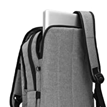 Anti Thief Tear Water Resistant Business Computer Bag 15 15.6 Inch Macbook Backpack Gray
