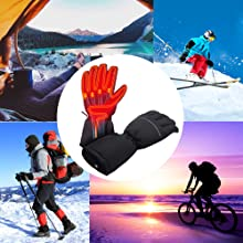 Heated Gloves Battery Powered Heating Gloves Winter Novelty Sports Outdoors Mens Womens Gloves
