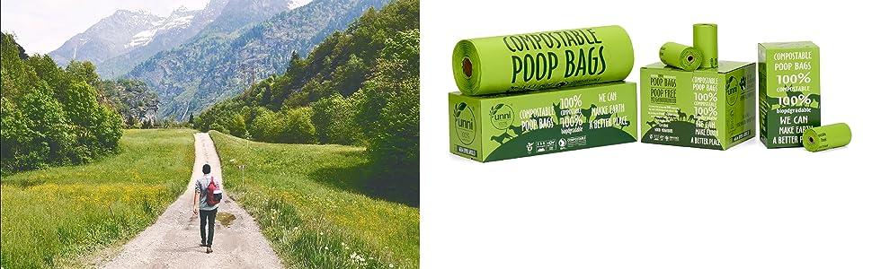 100% Compostable Pet Poop Bags