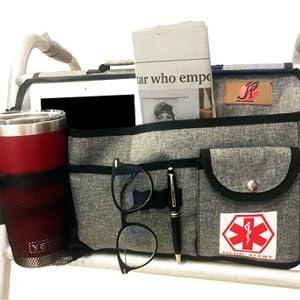 walker bag with cup holder for senior
