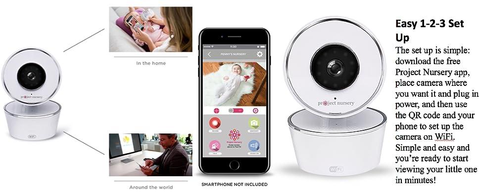 Amazon.com : Project Nursery HD WiFi Video Baby Monitor