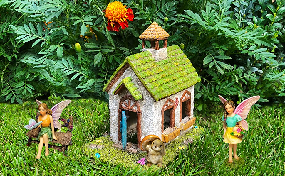 Amazon.com: Mood Lab Fairy Garden Fairy House