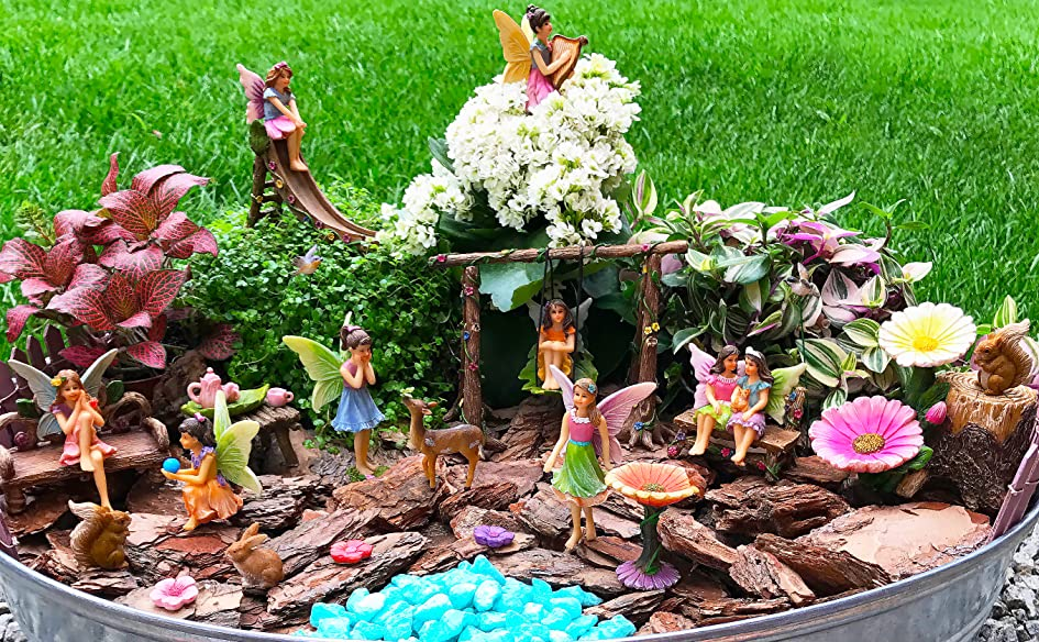 Premium Quality U0026 Hand Painted Fairy Garden Sets! Create Your Own Magical Fairy  Garden From Your Dreams!