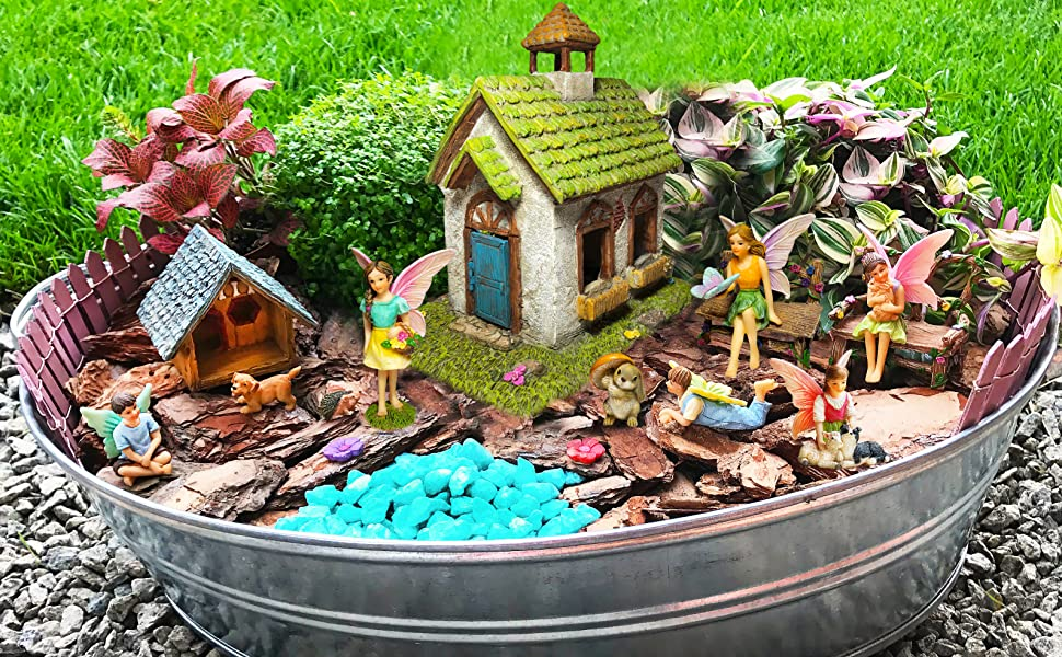 Good Premium Quality U0026 Hand Painted Fairy Garden Sets! Create Your Own Magical Fairy  Garden From Your Dreams!