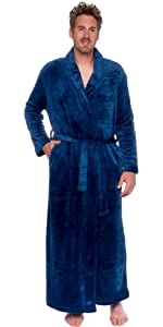 4160752dbe Ross Michaels Mens Long Robe - Full Length Big   Tall Bathrobe at ...