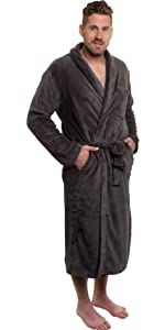e574228c88 Ross Michaels Mens Plush Shawl Collar Kimono Bathrobe Robe at Amazon ...