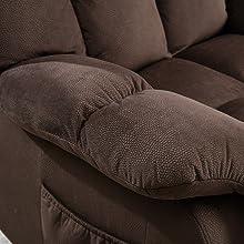 stuffed armrest