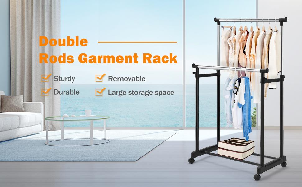 Rolling Garment Rack