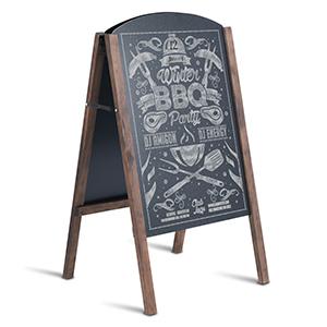 Amazon.com: Tablero de pizarra Tangkula con marco en A para ...