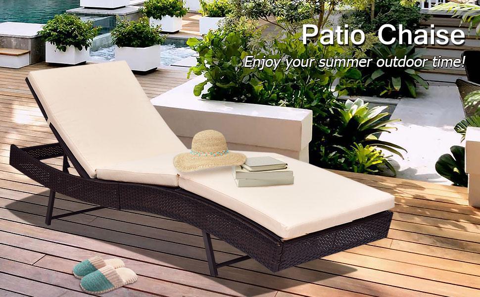 Amazon.com: Tangkula - Tumbona reclinable para patio o patio ...