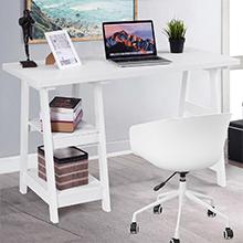 amazon com tangkula writing computer desk trestle desk study desk rh amazon com Modern Computer Desk Gaming Desk