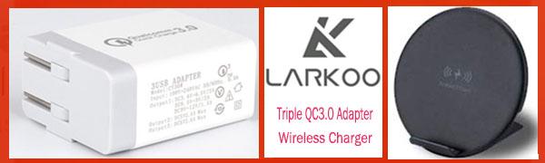 7f7ee815f66a1b Amazon.com: Wireless QI Fast Charger + Triple QC3.0 USB Wall Adapter ...