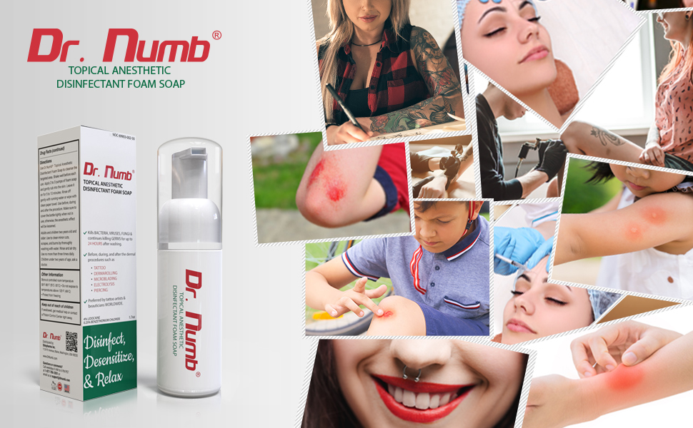 numbing cream removal aftercare tattoos foam soap dr numb care bottle waxing foaming wash hands