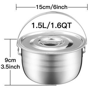 Amazon.com: KINDEN - Cuenco mezclador de acero inoxidable de ...
